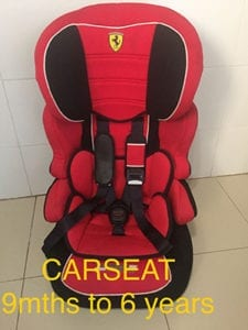 Child Car seat 9 mths to 6 years